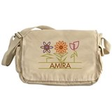 Amira with cute flowers Messenger Bag