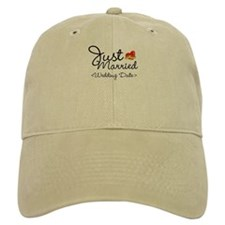 Just Married (Add Your Wedding Date) Baseball Cap