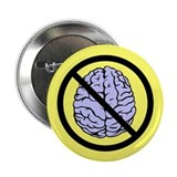 "Brain Not Found 2.25"" Button (10 pack)"