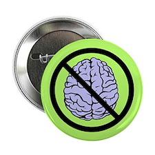 """Brain Not Found 2.25"""" Button (10 pack)"""