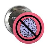 "Brain Not Found 2.25"" Button (100 pack)"