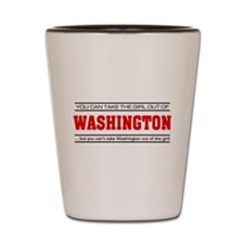 'Girl From Washington' Shot Glass