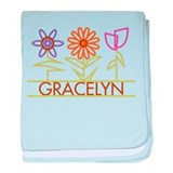 Gracelyn with cute flowers baby blanket