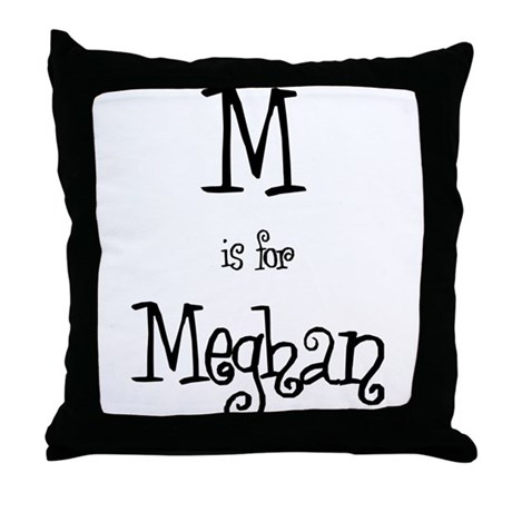 M Is For Meghan Throw Pillow