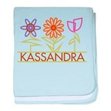 Kassandra with cute flowers baby blanket