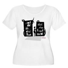 Library Monsterscape Ladies' Plus-sized Tee