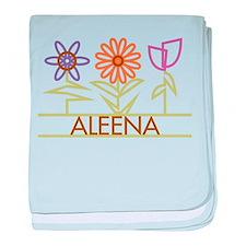 Aleena with cute flowers baby blanket