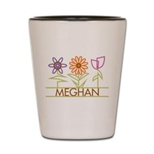 Meghan with cute flowers Shot Glass
