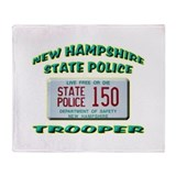 New Hampshire State Police Throw Blanket
