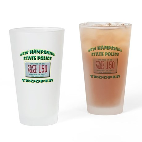 New Hampshire State Police Drinking Glass