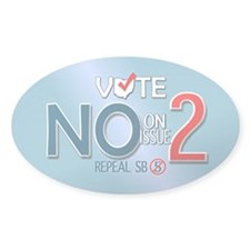 Vote NO Issue 2 Oval Decal