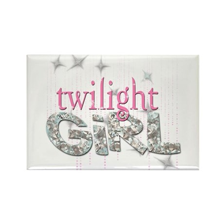 Twilight Girl Pink Rectangle Magnet