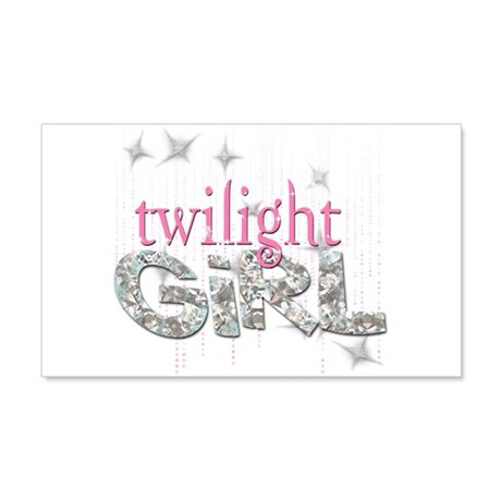 Twilight Girl Pink 20x12 Wall Decal