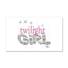Twilight Girl Pink Car Magnet 20 x 12