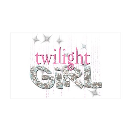 Twilight Girl Pink 35x21 Wall Decal