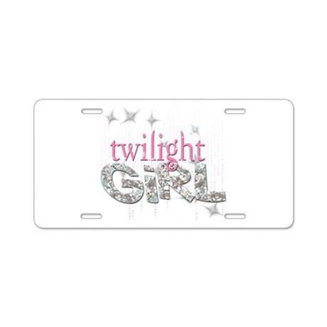 Twilight Girl Pink Aluminum License Plate