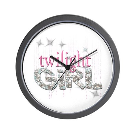 Twilight Girl Pink Wall Clock