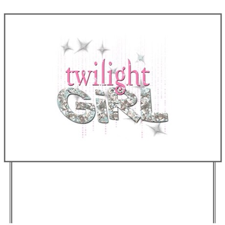 Twilight Girl Pink Yard Sign