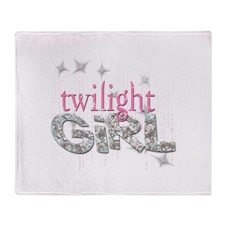 Twilight Girl Pink Throw Blanket