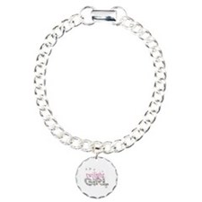 Twilight Girl Pink Charm Bracelet, One Charm