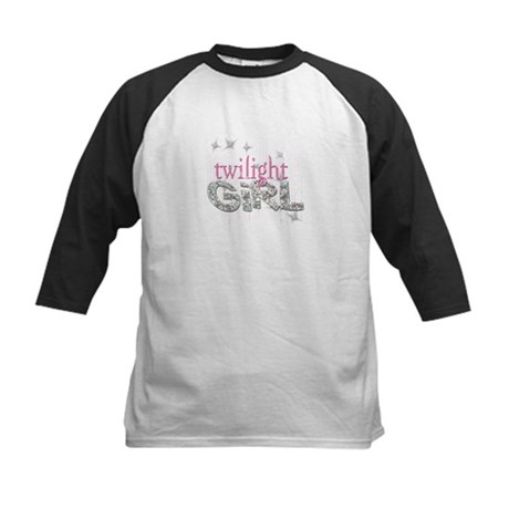 Twilight Girl Pink Kids Baseball Jersey