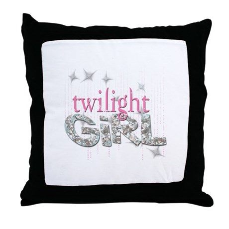 Twilight Girl Pink Throw Pillow