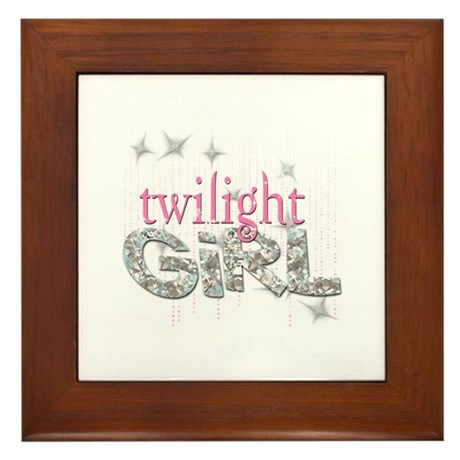 Twilight Girl Pink Framed Tile
