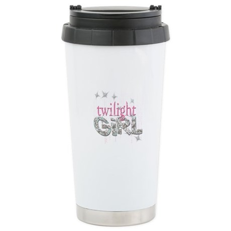 Twilight Girl Pink Stainless Steel Travel Mug