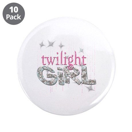 "Twilight Girl Pink 3.5"" Button (10 pack)"