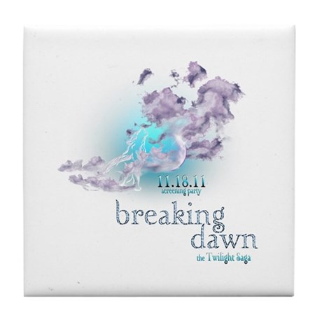 Breaking Dawn Clouds Screening Party Tile Coaster