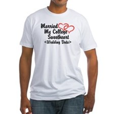 Married College Sweetheart (Wedding Date) Shirt