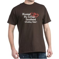 Married College Sweetheart (Wedding Date) T-Shirt