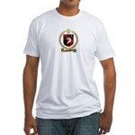 DESROCHERS Family Crest Fitted T-Shirt
