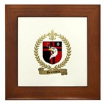 DESROCHERS Family Crest Framed Tile