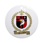 DESROCHERS Family Crest Ornament (Round)