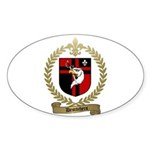 DESROCHERS Family Crest Oval Sticker