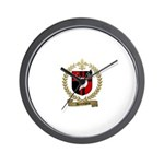 DESROCHERS Family Crest Wall Clock