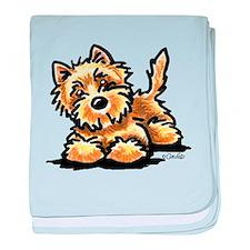 Wheaten Cairn Terrier baby blanket