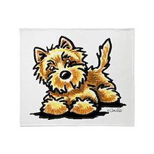 Wheaten Cairn Terrier Throw Blanket