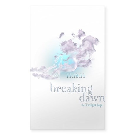 Breaking Dawn Clouds Screening Party Sticker (Rect