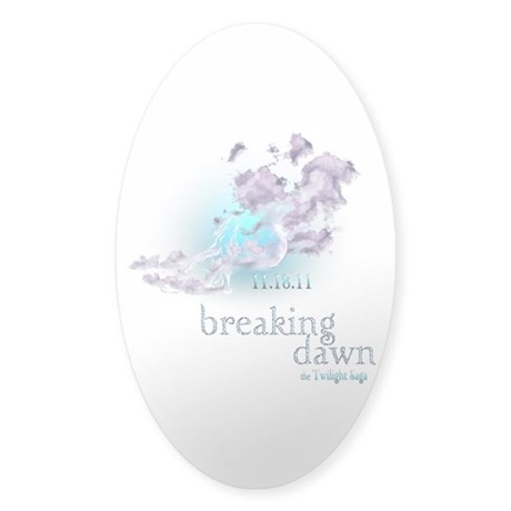 Breaking Dawn Clouds Screening Party Sticker (Oval
