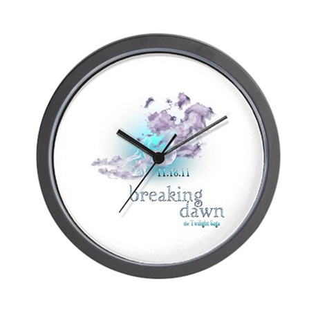 Breaking Dawn Clouds Screening Party Wall Clock