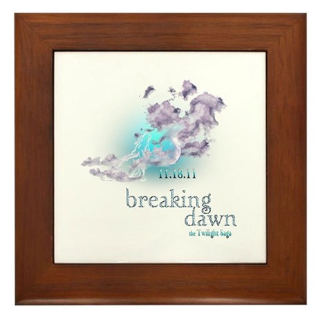 Breaking Dawn Clouds Screening Party Framed Tile