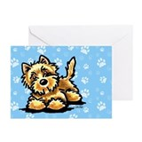 Cairn Terrier Paws Birthday Greeting Cards (Pk of