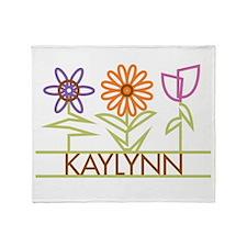 Kaylynn with cute flowers Throw Blanket