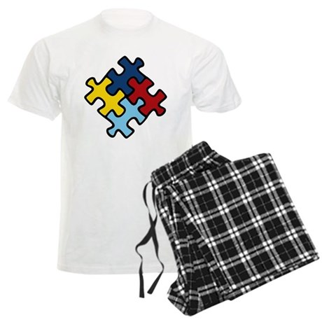 Autism Awareness Puzzle Men's Light Pajamas