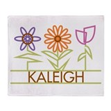 Kaleigh with cute flowers Throw Blanket
