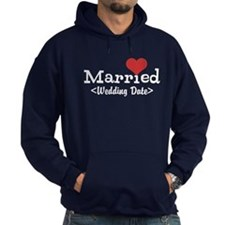 Married (Add Your Wedding Date) Hoodie