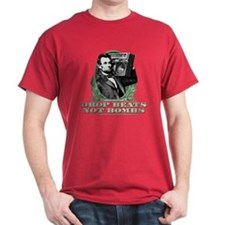 Abe Lincoln - Drops Beats Not Bombs! T-Shirt