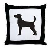Fox Hound Throw Pillow
